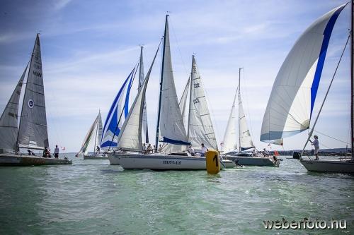 81 hajó a Bahart Regatta boglári fordulóján